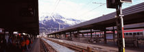 Passengers at a railroad station, Innsbruck, Tyrol, Austria von Panoramic Images