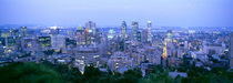 Cityscape at dusk, Montreal, Quebec, Canada by Panoramic Images