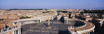 High angle view of a town, St. Peter's Square, Vatican City, Rome, Italy by Panoramic Images
