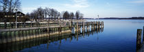 Pier over a lake, Lake Chiemsee, Bavaria, Germany by Panoramic Images