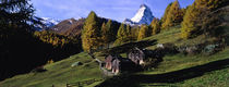 Low angle view of a mountain peak, Matterhorn, Valais Canton, Switzerland by Panoramic Images