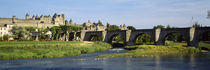 Bridge across a river, Aude River, Carcassonne, Languedoc, France von Panoramic Images