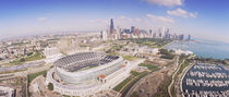 Aerial view of a stadium, Soldier Field, Chicago, Illinois, USA by Panoramic Images