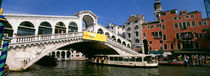 Low angle view of a bridge across a canal, Rialto Bridge, Venice, Italy by Panoramic Images