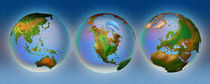 Close-up of three globes by Panoramic Images