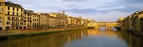 Panorama Print - Brücke über dem Arno, Florenz, Toskana, Italien, von Panoramic Images