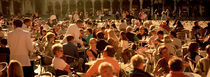 Tourists at a sidewalk cafe, Venice, Italy by Panoramic Images