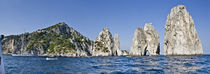 Rock formations in the sea, Faraglioni, Capri, Naples, Campania, Italy von Panoramic Images