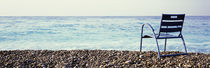 Vacant Chair On The Beach, Nice, Cote De Azur, France by Panoramic Images