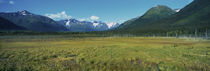 Panoramic view of a mountain range, Alaska Route 1, Turnagain Arm, Alaska, USA by Panoramic Images