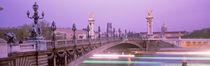 Panorama Print - Brücke über die Seine, Paris, Frankreich von Panoramic Images