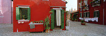 Facade of a house, Burano, Venice, Veneto, Italy by Panoramic Images