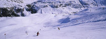 High angle view of tourists skiing on snow, Zurs, Austria von Panoramic Images