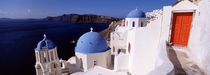 Church in a city, Santorini, Cyclades Islands, Greece by Panoramic Images