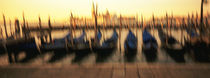 Gondolas in a canal, Venice, Italy von Panoramic Images