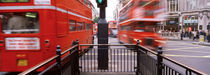 Double-Decker buses on the road, Oxford Circus, London, England by Panoramic Images