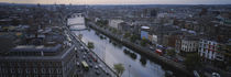 High angle view of a city, Dublin, Leinster Province, Republic of Ireland by Panoramic Images