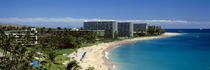Hotels on the beach, Kaanapali Beach, Maui, Hawaii, USA by Panoramic Images