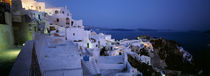 Terrace of the buildings, Santorini, Cyclades Islands, Greece by Panoramic Images