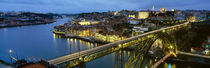 Bridge across a river, Dom Luis I Bridge, Oporto, Portugal von Panoramic Images