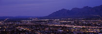 Aerial view of a city at night, Tucson, Pima County, Arizona, USA by Panoramic Images
