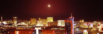 City lit up at night, Las Vegas, Nevada, USA by Panoramic Images