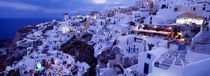 High angle view of buildings in a city, Santorini, Cyclades Islands, Greece von Panoramic Images