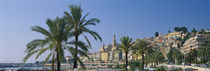 Building On The Waterfront, Menton, France von Panoramic Images
