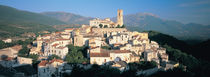 High angle view of a town, Goriano Sicoli, L'Aquila Province, Abruzzo, Italy by Panoramic Images