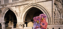 People in masquerade dress Palazzo Ducale Venice Italy by Panoramic Images