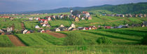 High angle view of houses in a field, Tatra Mountains, Slovakia by Panoramic Images