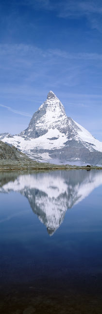 Lake, Mountains, Matterhorn, Zermatt, Switzerland von Panoramic Images
