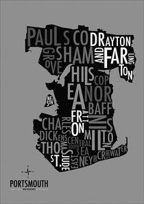 Portsmouth Boundaries (Black & White) by Dan Gordon
