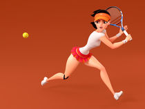 French Open 2011 champion Li Na by Yinxuan LI Dezarmenien