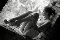sitting in the window by Dmytro Tolokonov