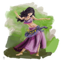 Purple Gypsy Dancing von Rob Stilwell
