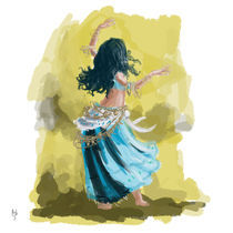 Blue Dancing Gypsy von Rob Stilwell