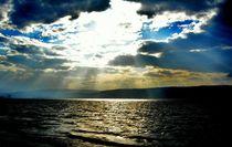 Sunrays on the Sea of Galilee by Karina Stinson