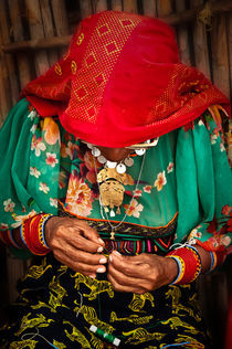 Kuna Woman Weaving by Christian Archibold