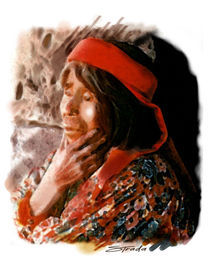 tarahumara indian woman by Ruben Strada