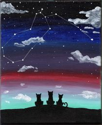 Aquarius Cats by Laree Alexander