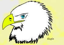realistic cartoon eagle 1/2 by michael  arnott