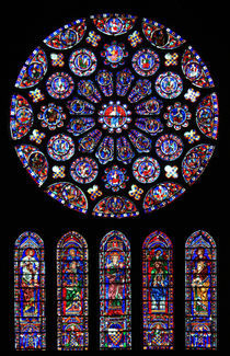 Chartres South transept rose by Armend Kabashi
