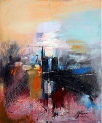'Abstract on red' von AVDIA AVRUMUTOAE