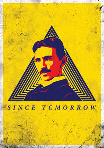 Nikola Tesla yellow by Sandin Medjedovic