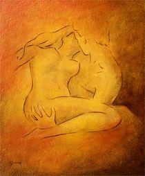 Flammende Leidenschaft - erotische Gemälde von Marita Zacharias
