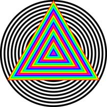 Rainbow Triangle in Circle by Chandler Klebs