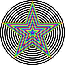 rainbow pentagram by Chandler Klebs