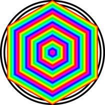 Rainbow-hexagon