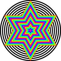 Rainbow-hexagram